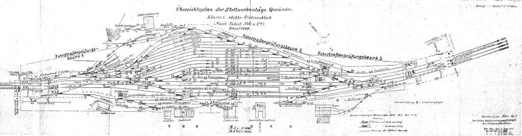 Gleisplan Gemünden 1925