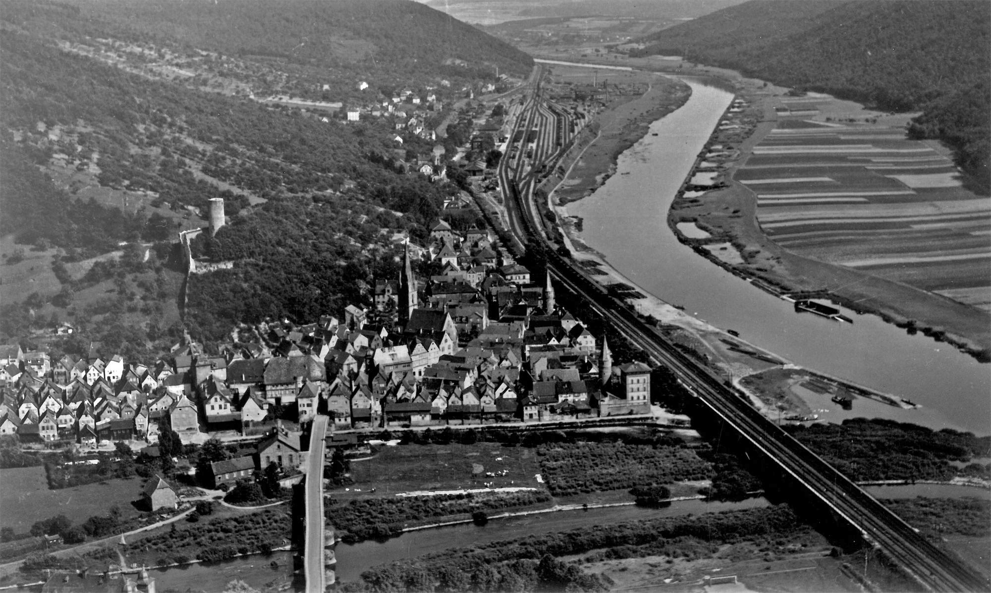 Gemünden in den 1930er Jahren